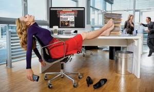 Businesswoman resting
