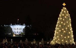 GWB: 2008 Lighting of the National Christmas Tree Ceremony.