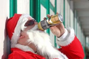 santa-drinking