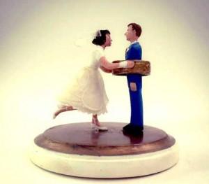 Custom made cake wedding cake topper.